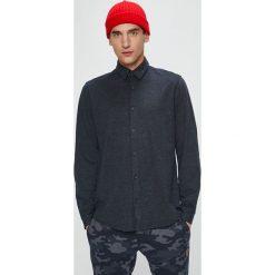 Jack & Jones - Koszula. Czarne koszule męskie na spinki Jack & Jones, l, z bawełny, z klasycznym kołnierzykiem, z długim rękawem. W wyprzedaży za 99,90 zł.