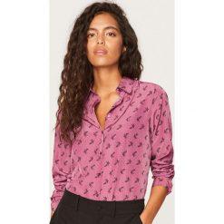 Koszula we wzory - Różowy. Czerwone koszule wiązane damskie Reserved. Za 49,99 zł.