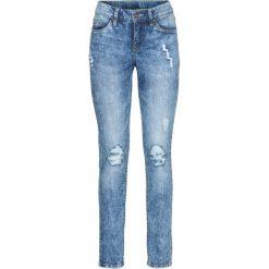 Dżinsy SKINNY bonprix niebieski. Niebieskie jeansy damskie marki bonprix, z jeansu. Za 109,99 zł.