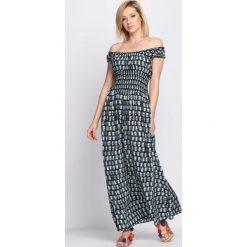 Sukienki: Granatowo-Zielona Sukienka Red Wine