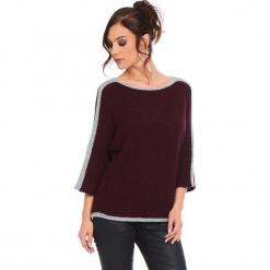 """Sweter """"Cecile"""" w kolorze bordowym. Czerwone swetry klasyczne damskie marki Cosy Winter, s, ze splotem, z okrągłym kołnierzem. W wyprzedaży za 159,95 zł."""