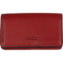 Portfel - 588370 RED-JE. Czerwone portfele damskie Venezia, ze skóry. Za 199,00 zł.