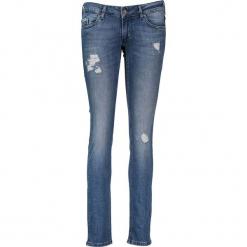 """Dżinsy """"Gina"""" - Slim fit - w kolorze niebieskim. Niebieskie spodnie z wysokim stanem marki Mustang, z aplikacjami, z bawełny. W wyprzedaży za 217,95 zł."""