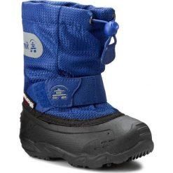 Buty zimowe chłopięce: Śniegowce KAMIK – Icepop2 NK9123 Med Blue