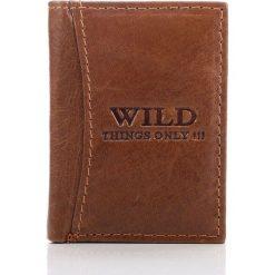 Portfele męskie: Skórzany portfel męski WILD brązowy