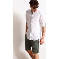 KOSZULA DŁUGI RĘKAW MĘSKA REGULAR FIT. Szare koszule męskie Top Secret, na lato, m, z długim rękawem. Za 59,99 zł.