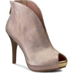 Botki R.POLAŃSKI - 0724 Róż/Złoty/Przecierany. Czerwone buty zimowe damskie R.Polański, ze skóry, na obcasie. W wyprzedaży za 259,00 zł.