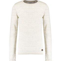 Swetry klasyczne męskie: Lindbergh ONECK ROLL EDGE Sweter off white