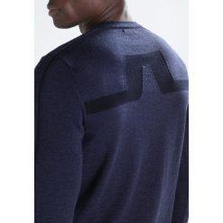 Swetry klasyczne męskie: J.LINDEBERG NOLAN TRUE  Sweter navy