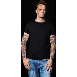 T-shirty męskie: T-shirt męski z tatuażami Halloween Pumpkins