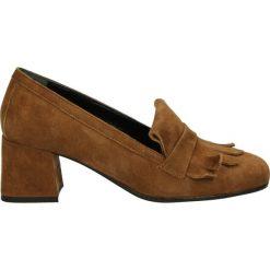 Czółenka - 406 CAM CUOIO. Brązowe buty ślubne damskie Venezia, ze skóry. Za 189,00 zł.