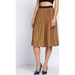 Spódniczki: Ciemnobeżowa Spódnica Contradictions