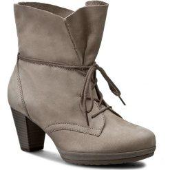 Botki GABOR - 75.794.13  Fumo. Brązowe buty zimowe damskie Gabor, z materiału, na obcasie. W wyprzedaży za 299,00 zł.