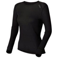 Odlo Koszulka tech. Odlo Shirt l/s crew neck WARM - 152021 - 152021S. Czarne topy sportowe damskie marki Odlo, l. Za 169,95 zł.