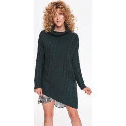 Swetry damskie: GOLF W WARKOCZE Z ASYMETRYCZNYM DOŁEM