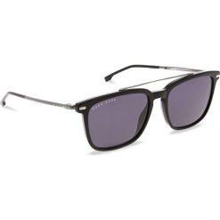 Okulary przeciwsłoneczne BOSS - 0930/S Black 807. Czarne okulary przeciwsłoneczne męskie aviatory Boss, z tworzywa sztucznego. W wyprzedaży za 529,00 zł.