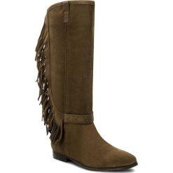 Kozaki BRONX - 14045-A Olive 63. Czarne buty zimowe damskie marki Bronx, z materiału. W wyprzedaży za 269,00 zł.