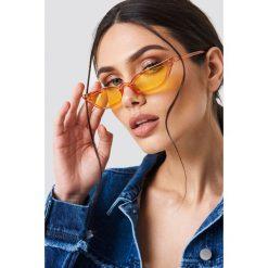Okulary przeciwsłoneczne damskie: NA-KD Trend Okulary przeciwsłoneczne retro – Orange
