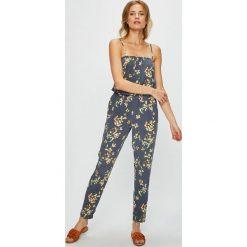 Vero Moda - Kombinezon. Szare kombinezony damskie marki Vero Moda, l, z tkaniny, na ramiączkach. Za 149,90 zł.