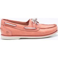 Timberland - Mokasyny. Różowe mokasyny damskie marki Timberland, z gumy. W wyprzedaży za 399,90 zł.