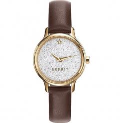 Zegarek kwarcowy w kolorze brązowo-złotym. Brązowe, analogowe zegarki damskie Esprit Watches, ze stali. W wyprzedaży za 181,95 zł.