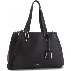 Torebka LIU JO - L Double Zip Satchel N68012 E0033 Nero 22222. Czarne torebki klasyczne damskie marki Liu Jo, z materiału. Za 689,00 zł.