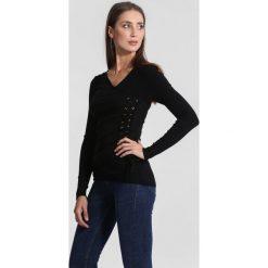 Swetry klasyczne damskie: Czarna Sweter Full Of Mercy
