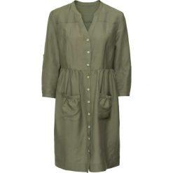 Sukienki hiszpanki: Sukienka bonprix oliwkowy