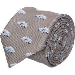 Krawat platinum beż classic 201. Brązowe krawaty męskie Recman, z tkaniny, eleganckie. Za 49,00 zł.