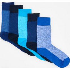 Kapcie męskie: 5 pack niebieskich skarpetek – Granatowy