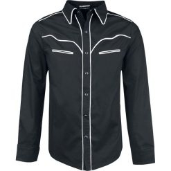 Banned Alternative Plain Trim Koszula czarny/biały. Białe koszule męskie na spinki marki Reserved, l. Za 199,90 zł.