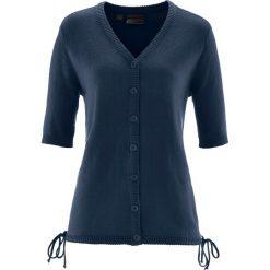 Swetry rozpinane damskie: Sweter rozpinany bonprix ciemnoniebieski