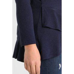 Bluzki asymetryczne: Evans FRILL HEM  Bluzka z długim rękawem blue