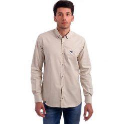 Koszule męskie na spinki: Koszula w kolorze kremowym