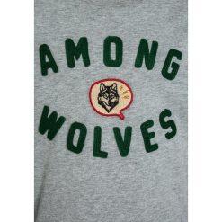 American Outfitters WOLVES Bluzka z długim rękawem  heather oxford. Szare bluzki dziewczęce bawełniane marki American Outfitters, z długim rękawem. W wyprzedaży za 135,20 zł.
