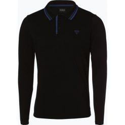 Guess Jeans - Męska koszulka polo, czarny. Szare koszulki polo marki Guess Jeans, l, z aplikacjami, z bawełny. Za 169,95 zł.