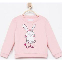 Bluza Cute - Różowy. Czerwone bluzy niemowlęce marki Reserved. W wyprzedaży za 19,99 zł.