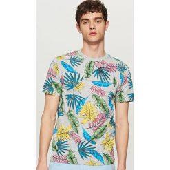 T-shirty męskie: T-shirt z nadrukiem all over – Jasny szar