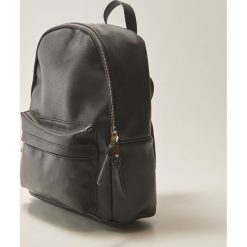 Plecaki damskie: Plecak z kieszenią - Czarny