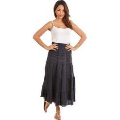 Spódnice wieczorowe: Lniana spódnica w kolorze granatowym