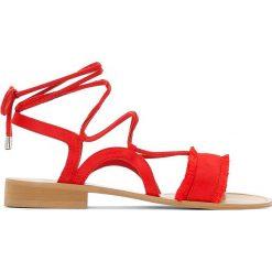 Rzymianki damskie: Sandały wiązane w kostce na szeroką stopę 38-45
