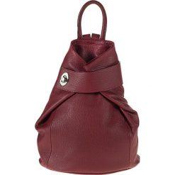 """Plecaki damskie: Skórzany plecak """"Olbia"""" w kolorze bordowym – 28 x 34 x 14 cm"""