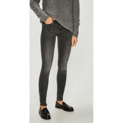 Only - Jeansy. Czarne jeansy damskie rurki marki ONLY, l, z materiału, z kapturem. Za 169,90 zł.