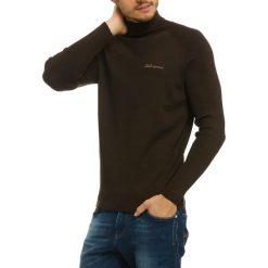 Swetry męskie: Golf w kolorze ciemnobrązowym