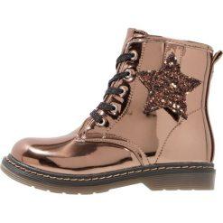 Gioseppo Botki sznurowane bronce. Brązowe buty zimowe damskie Gioseppo, z materiału, na sznurówki. W wyprzedaży za 199,20 zł.