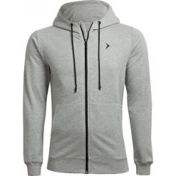Bluza męska BLM601 - chłodny jasny szary melanż - Outhorn. Szare bluzy męskie rozpinane Outhorn, m, melanż. W wyprzedaży za 79,99 zł.