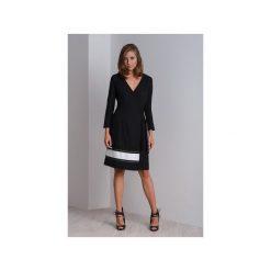 Sukienki: Elegancka koktajlowa czarna sukienka CALA