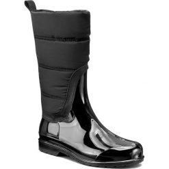 Kalosze MICHAEL MICHAEL KORS - Cabot Quilted Rainboot 40F6CAFB5Q Black. Czarne buty zimowe damskie marki MICHAEL Michael Kors, z gumy, przed kolano, na wysokim obcasie. W wyprzedaży za 499,00 zł.