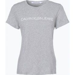 Calvin Klein Jeans - T-shirt damski, szary. Szare t-shirty damskie Calvin Klein Jeans, m, z jeansu. Za 139,95 zł.
