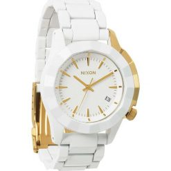 Zegarki damskie: Zegarek damski All White Gold Nixon Monarch A2881035